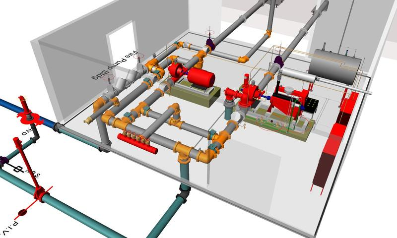3D Modeling Fire Sprinkler Design | Kobobel Fire Protection LLC